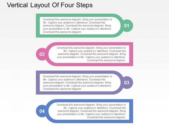 Vertical Layout Of Four Steps PowerPoint Templates