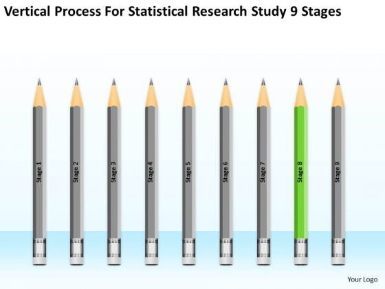 Vertical Process For Statisctical Research Study 9 Stages Ppt 8 Busniess Plan PowerPoint Slides