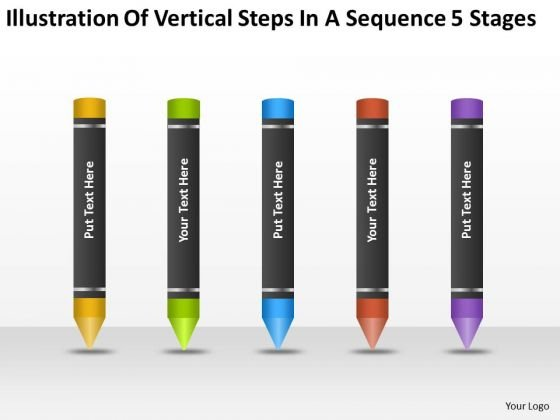 Vertical Steps In Sequence 5 Stages Ppt Business Plans Sample PowerPoint Slides