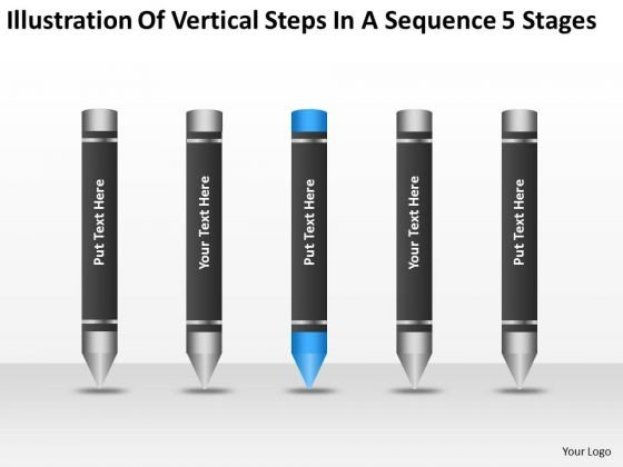 Vertical Steps In Sequence 5 Stages Ppt Insurance Business Plan PowerPoint Slides
