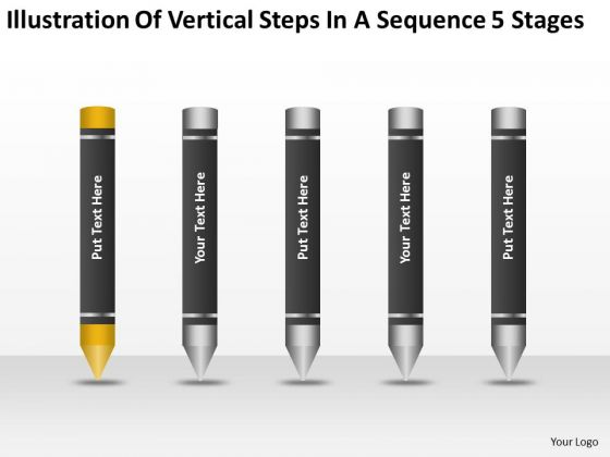 Vertical Steps In Sequence 5 Stages Ppt Network Marketing Business Plan PowerPoint Slides