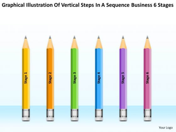 Vertical Steps In Sequence Business 6 Stages Ppt Sales Plan PowerPoint Templates