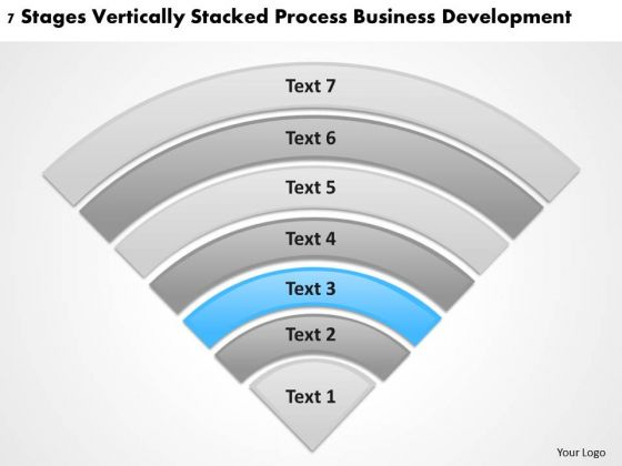 Vertically Stacked Process Business Deveopment Plan How To Write PowerPoint Slides