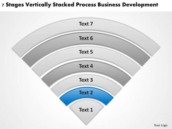 Vertically Stacked Process Business Deveopment Small Planning PowerPoint Slides