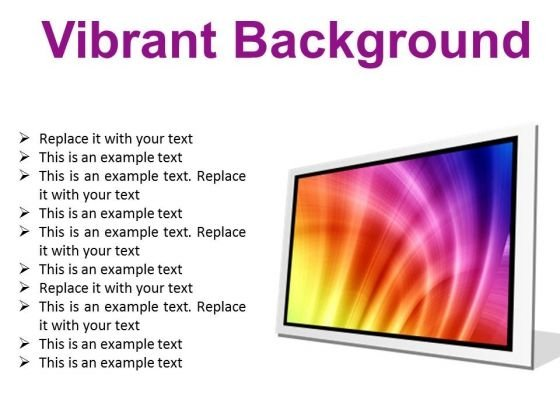 Vibrant Background Abstract PowerPoint Presentation Slides F