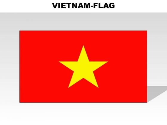 Vietnam Country PowerPoint Flags