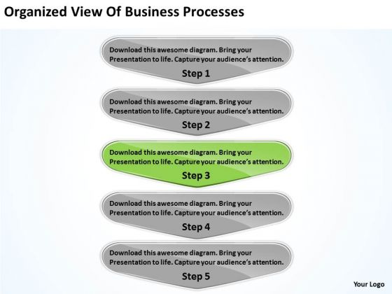 View Of Business PowerPoint Theme Processes Free Plans Software Slides