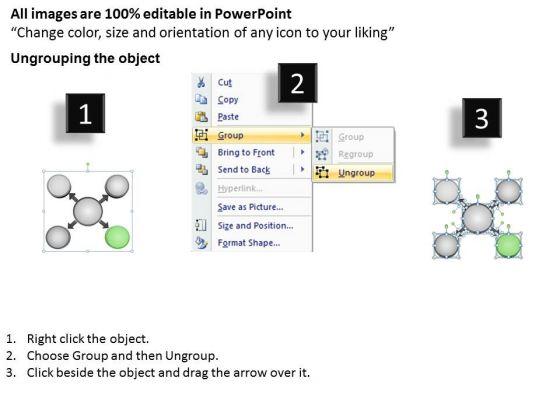 visual_representation_of_four_diverging_factors_circular_motion_diagram_powerpoint_templates_2