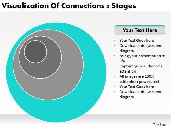 Visualization Of Connections 4 Stages Ppt Business Plan PowerPoint Templates