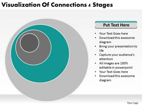 Visualization Of Connections 4 Stages Ppt It Business Plan PowerPoint Templates