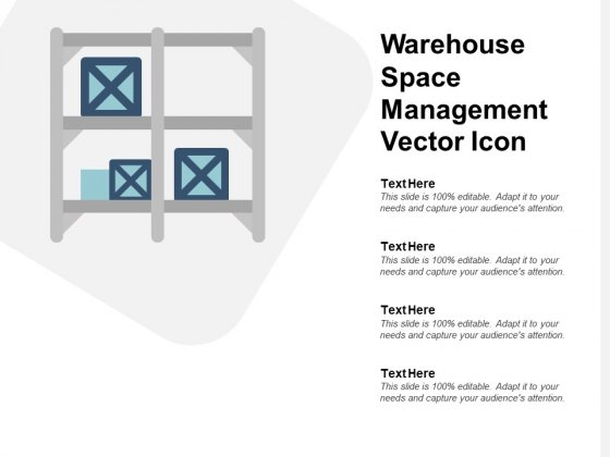 Warehouse Space Management Vector Icon Ppt PowerPoint Presentation Infographic Template Brochure