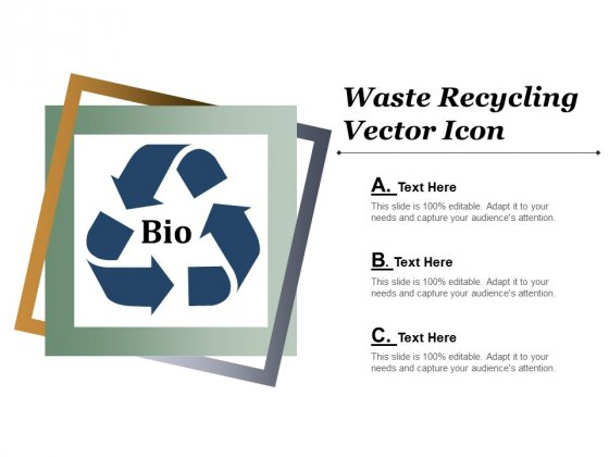 Waste Recycling Vector Icon Ppt Powerpoint Presentation Infographic