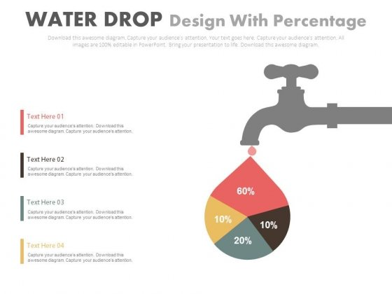 Water drop diagram with percentage chart powerpoint template water drop diagram with percentage chart powerpoint template powerpoint templates toneelgroepblik Images