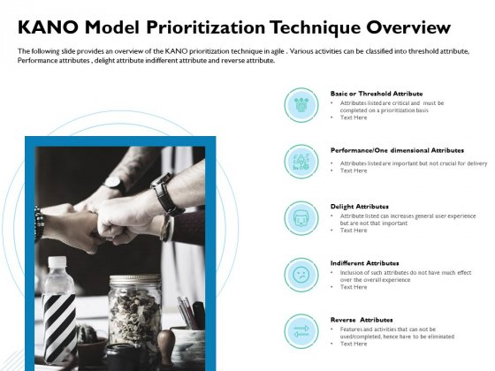Waterfall Project Prioritization Methodology KANO Model Prioritization Technique Overview Summary PDF