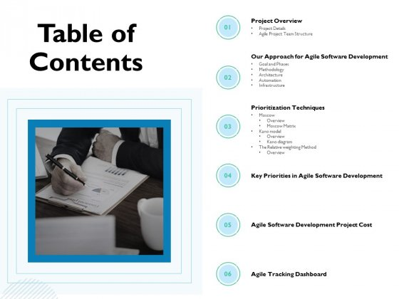 Waterfall Project Prioritization Methodology Table Of Contents Ppt Layouts Ideas PDF