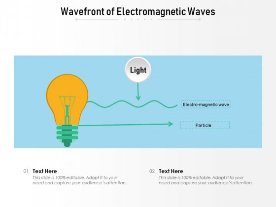 Wavefront Of Electromagnetic Waves Ppt PowerPoint Presentation Inspiration Styles PDF
