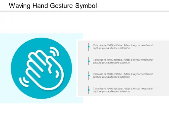 Waving Hand Gesture Symbol Ppt PowerPoint Presentation Slides Infographic Template