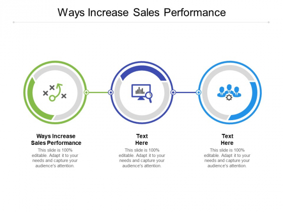 Ways Increase Sales Performance Ppt PowerPoint Presentation Infographic Template Show Cpb Pdf