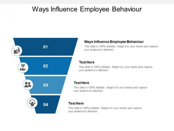 Ways Influence Employee Behaviour Ppt PowerPoint Presentation Model Template Cpb