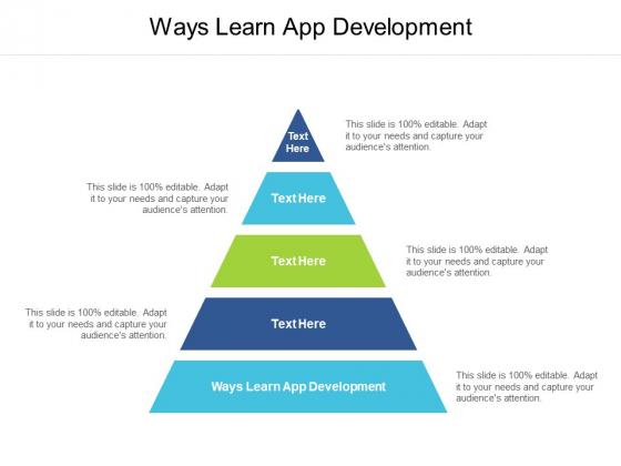 Ways Learn App Development Ppt PowerPoint Presentation Professional Deck Cpb