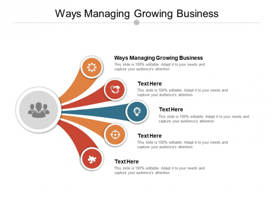 Ways Managing Growing Business Ppt PowerPoint Presentation File Grid Cpb Pdf