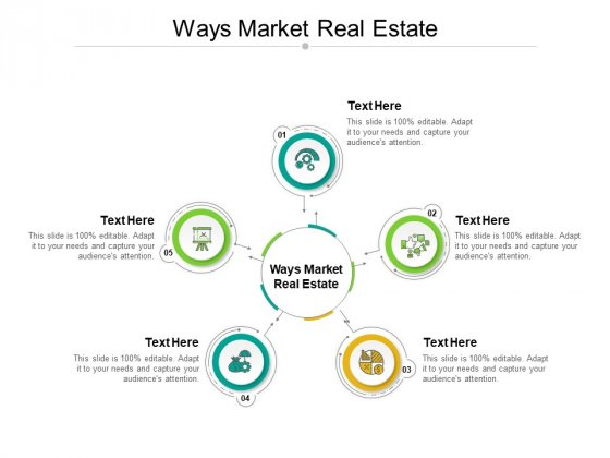 Ways Market Real Estate Ppt PowerPoint Presentation Pictures Graphics Cpb