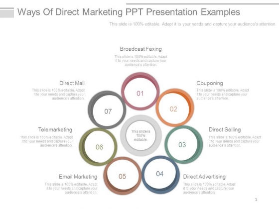 Marketing and sales powerpoint presentation examples.