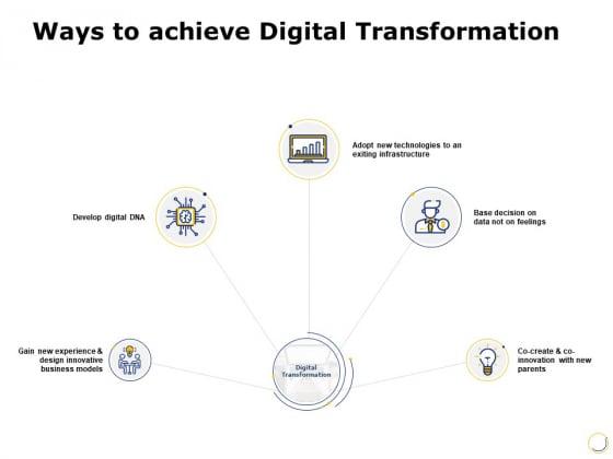 Ways To Achieve Digital Transformation Ppt PowerPoint Presentation Visual Aids Gallery