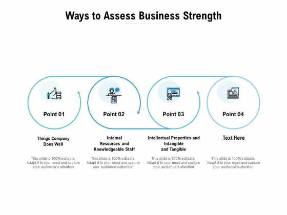 Ways To Assess Business Strength Ppt PowerPoint Presentation Outline Slide Portrait