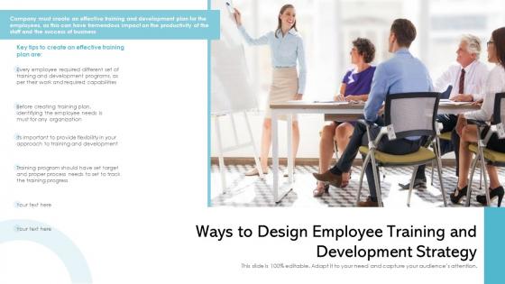 Ways To Design Employee Training And Development Strategy Ppt Portfolio Topics PDF