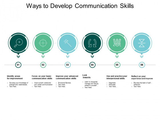 Ways To Develop Communication Skills Ppt PowerPoint Presentation Gallery Influencers