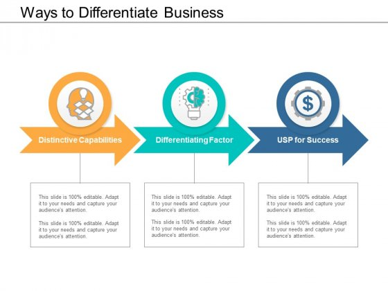 Ways To Differentiate Business Ppt Powerpoint Presentation Show Guidelines