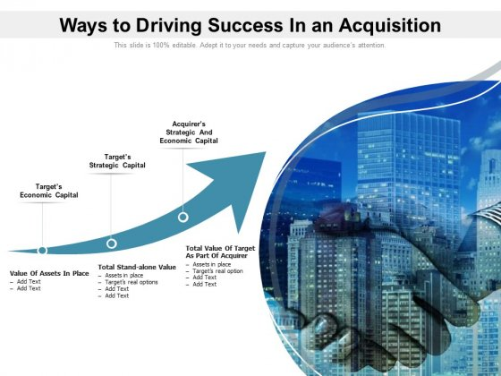 Ways To Driving Success In An Acquisition Ppt PowerPoint Presentation Ideas Slides