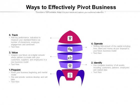 Ways To Effectively Pivot Business Ppt PowerPoint Presentation Icon Graphic Images PDF