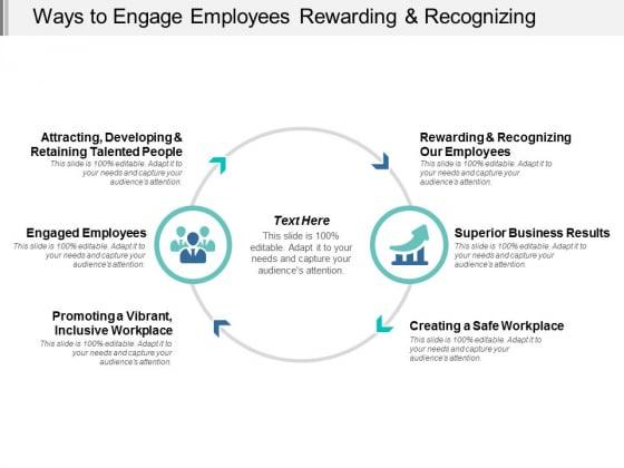 Ways To Engage Employees Rewarding And Recognizing Ppt Powerpoint Presentation Portfolio Skills