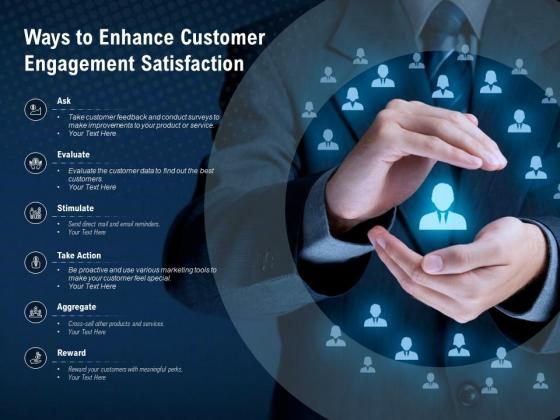 Ways To Enhance Customer Engagement Satisfaction Ppt PowerPoint Presentation Ideas Slide