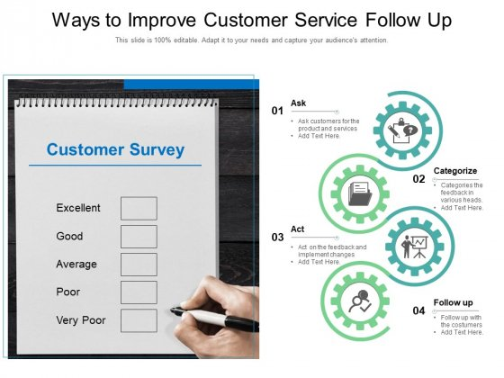 Ways To Improve Customer Service Follow Up Ppt PowerPoint Presentation Show Templates PDF