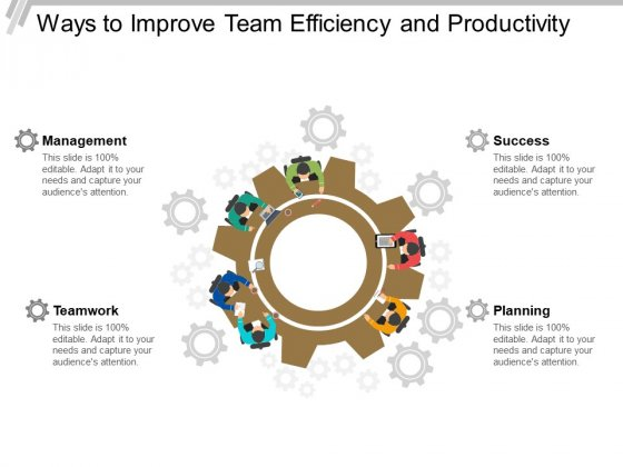 Ways To Improve Team Efficiency And Productivity Ppt PowerPoint Presentation Visual Aids Example 2015