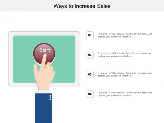 Ways To Increase Sales Ppt PowerPoint Presentation Portfolio Visuals