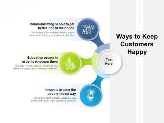 Ways To Keep Customers Happy Ppt PowerPoint Presentation Infographics Show PDF