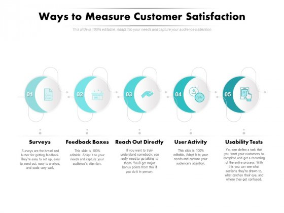 Ways To Measure Customer Satisfaction Ppt PowerPoint Presentation Summary Brochure