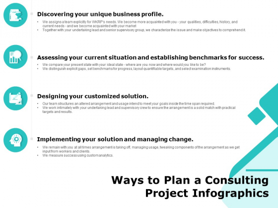 Ways To Plan A Consulting Project Infographics Ppt PowerPoint Presentationmodel Brochure PDF