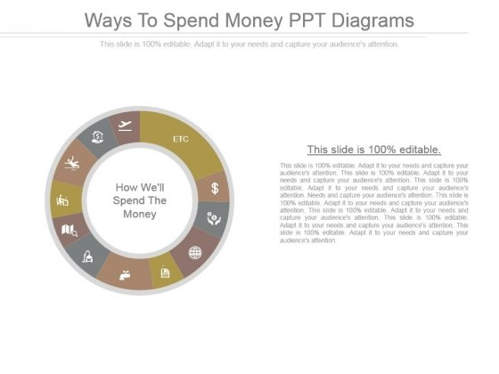 Ways To Spend Money Ppt Diagrams