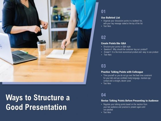 Ways To Structure A Good Presentation Ppt PowerPoint Presentation Outline Vector