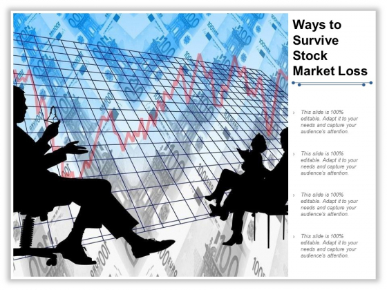 Ways To Survive Stock Market Loss Ppt PowerPoint Presentation Pictures Objects