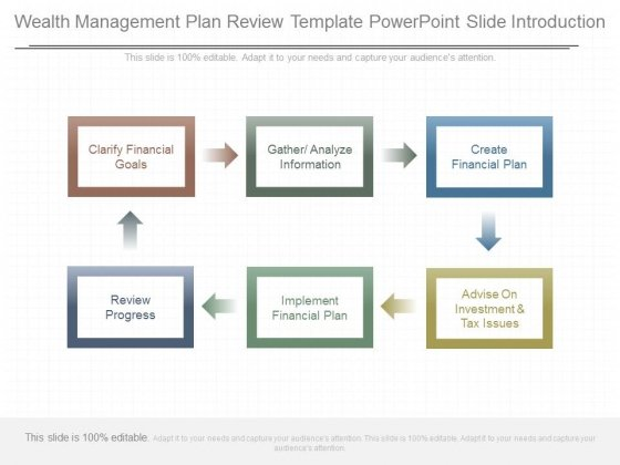 Wealth Management Plan Review Template Powerpoint Slide Introduction