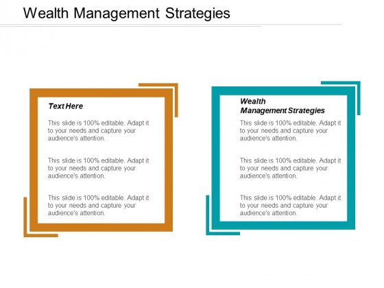 Wealth Management Strategies Ppt PowerPoint Presentation Portfolio Background Cpb