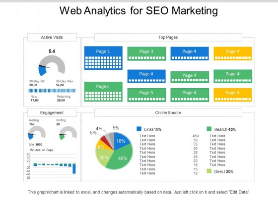 Web Analytics For Seo Marketing Ppt PowerPoint Presentation Examples
