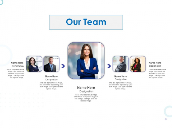 Web Banking For Financial Transactions Our Team Ppt File Graphics PDF