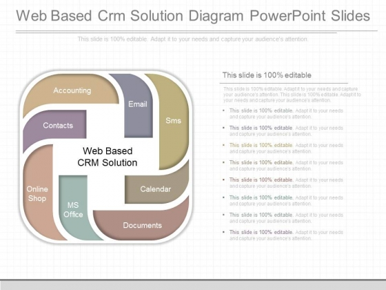 Web Based Crm Solution Diagram Powerpoint Slides